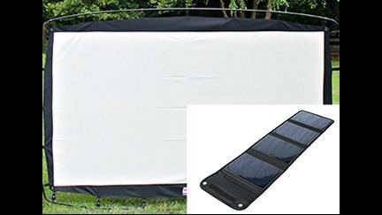Solar Panel and Screen Set Combined